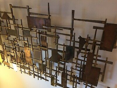 Mid Century Modern Abstract Eames Era C Jere Metal Wall Art Corey Ellis Style