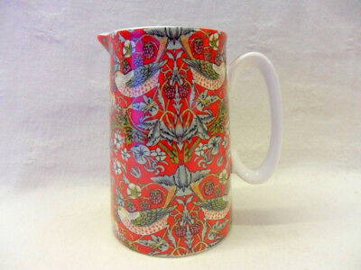 William Morris red strawberry thief small jug by the Abbeydale Collection
