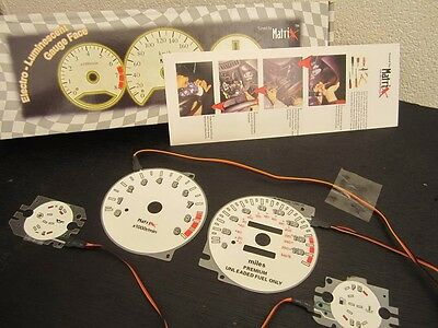 95-99 Mitsubishi Eclipse Turbo 5 Speed Indiglo & Reverse Glow Gauges Gauge Kit