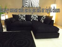 BANK HOLIDAY SALE OFFER ZINA luxury corner sofa as in pic left or right chase fast delivery