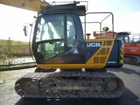 2013 JCB JS130LC, 700mm pads, Vandal guards, piped, quick hitch, check valves
