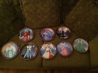 """Danbury Mint """"High fashion Barbie"""" Complete set of 8 Collector Plates"""