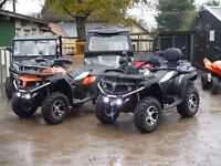 New Quadzilla recreation or farm Quad bike, CForce 550 EPS in orange, from Devon Quadzilla agent.