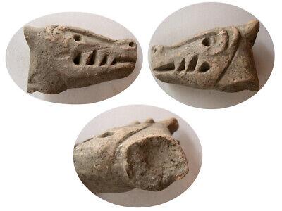 PCW-AN421-MEDIEVAL TIMES. Ca.14th-15th. Century AD. Terracotta Griffin Head.