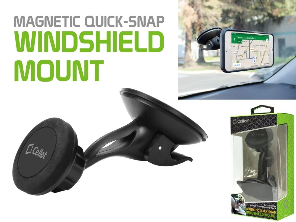 Cellet Magnetic Quick-Snap Windshield Mount for Smartphones