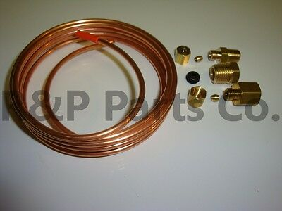 Copper Tubing Kit - Mechanical Oil Pressure Gauge Install Kit with Fittings & 72