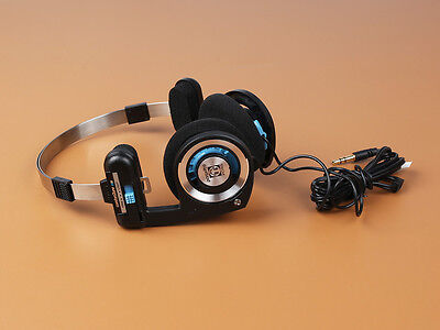 Koss Porta Pro PortaPro Headband Headphones-Blue/Black Straight Plug heavy bass