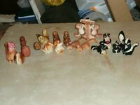 CLEARANCE OFSQUIRRELS & SKUNKS SALT & PEPPER SHAKERS