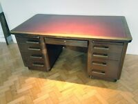 Vintage Leather Top Knee Hole Desk. Deco
