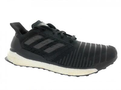 9e6fbd9e8b1d5 Men s Adidas SolarBoost Running Athletic Shoes CQ3171 Black Grey Size 13
