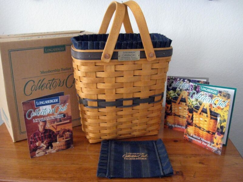 Longaberger  Collectors Club Charter Member Basket, Combo First ! NEW NIB