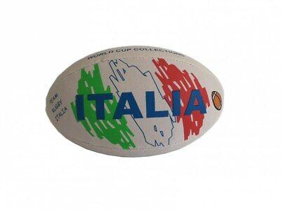 Palla da Rugby Italia in Gomma Pallone Misura 30 cm PS 31406
