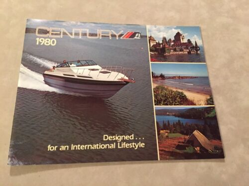 CENTURY BOAT~BOATS~1980 ORIGINAL SALES BROCHURE~MINT CONDITION~ARABIAN~180-200