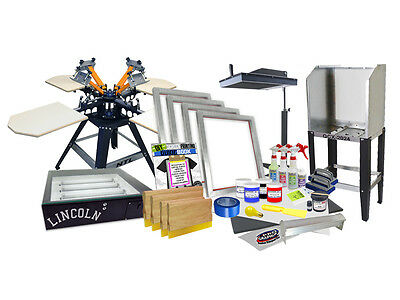 Diy 4 Color Shocker Start-up Screen Printing Kit - Press Flash Exposure - 44-1
