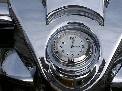 FORK LOCK CLOCK FOR HARLEY DAVIDSON ROAD KING MOTORCYCLE WHITE DIAL ROADKING (Road King Fork Lock Clocks)