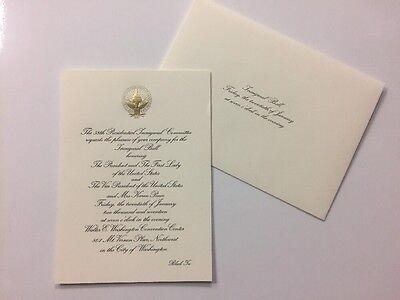 2017 President Donald Trump Inauguration Inaugural Ball Invitation Mike Pence