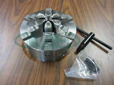 6 6-jaw Self-centering Lathe Chuck W. Solid Jaws--0.003 Tir---new