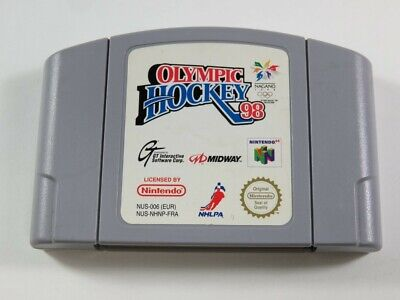 OLYMPIC HOCKEY 98 NINTENDO 64 (N64) PAL-FRA (CARTRIDGE ONLY - GOOD CONDITION)