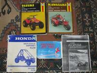 """Various Parts-Oil filters-Brake levers-Gaskets- Manuals-1980's"""