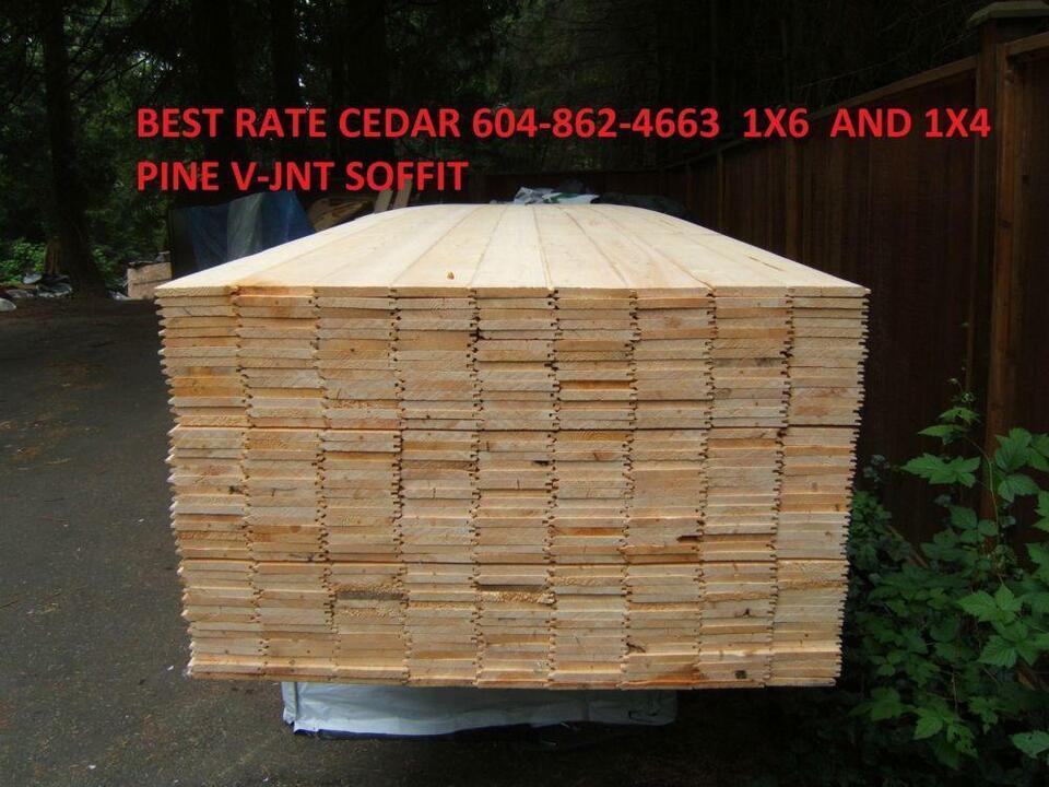 Clear Cedar Soffit 1x6 Two Grades Pine Soffit Cedar Lumber