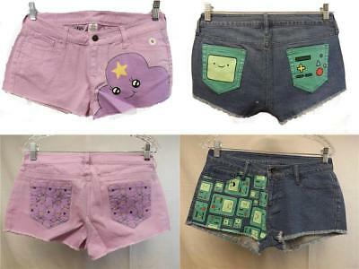 New Adventure Time Lsp Or Bmo Womens Jean Shorts Sizes S M L Xl