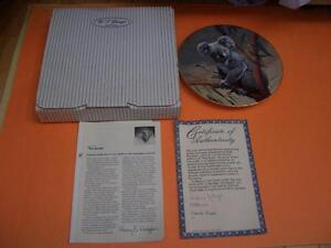 W.S. GEORGE THE KOALA PLATE COMPLETE WITH BOX AND COA London Ontario image 3