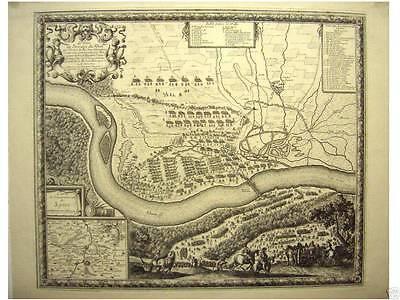 Orig Kupferstich Beaulieu 1670 SPEYER Umgebungskarte
