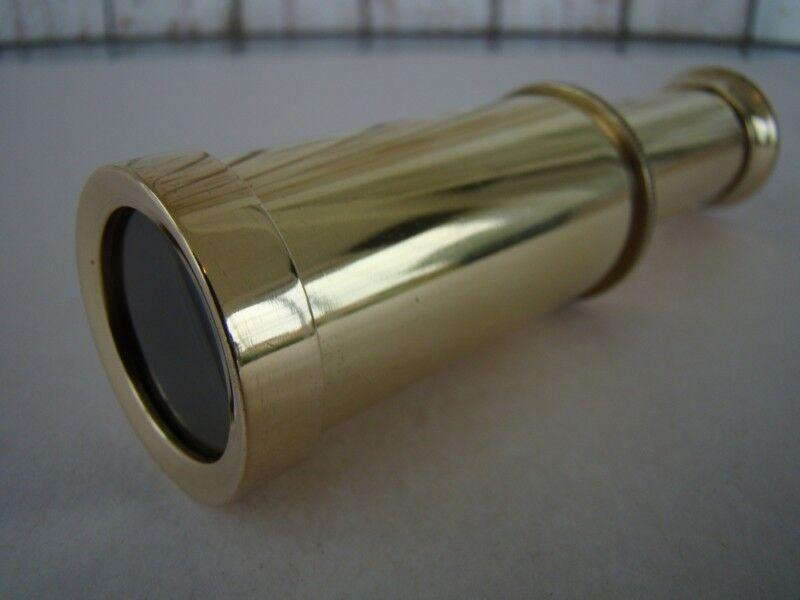 "4"" Brass Telescope ~ Polished Finish ~ Nautical Maritime Spyglass"