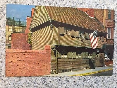 POSTCARD UNUSED MASSACHUSETTS, BOSTON-THE PAUL REVERE HOUSE FROM 1770-1800