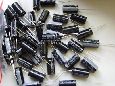 8values 80pcs 25v 10uf470uf Electrolytic Capacitor Kit Set New