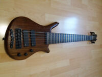 '99, Warwick Thumb Bolt On 6, Broad Neck! German made with Warwick flightcase. Rare!