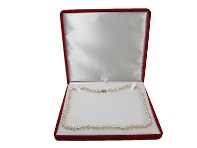 New Red Velvet Jewelry Store Style XL Necklace Pearl Gift Box Pearl Jewelry Gift