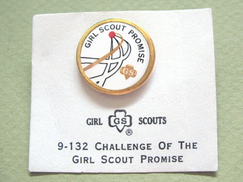 Challenge-GIRL SCOUT PROMISE 1963 NOC Cadette & Sr. OFFICIAL PIN VOLUME DISCOUNT