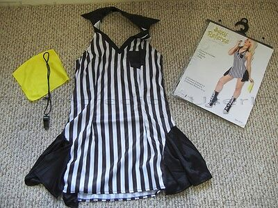 Hot Referee Costume (Sexy Ref Referee Womens Halloween Costume Dress Skirt Hot Extra Small XS S)
