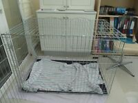 Extra large dog or cat crate/cage - folds flat