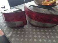 1 Pair Citron Saxo 1999-2003 Rear Lamp Tail Lights Clear Indicator