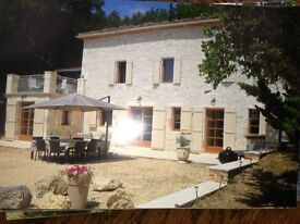 Holiday farmhouse in south west france