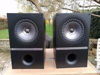 Kef Q300 Bookshelf Stereo Speakers - AS NEW