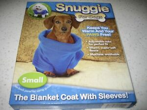 SNUGGIE FOR DOGS~BLUE COLOR~SIZE SMALL~BRAND NEW! SMOKE FREE