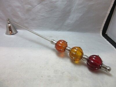 Glass ball beaded candle snuffer. Red, yellow, orange for sale  Shipping to India