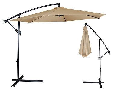 10Ft Outdoor Patio Sun Shade Umbrella Cantilever ...