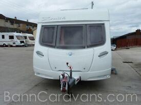 Summer Sizzler! 2007 Lunar Zenith 4 Berth Fixed Bed Touring Caravan Save £££s!