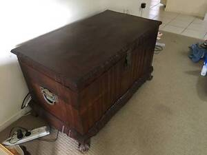 Large solid Timber storage chest (Kist) from South Africa Nerang Gold Coast West Preview