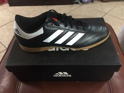 purchase cheap 8efe2 5e088 New Adidas Goletto VI IN Soccer Shoe AQ4289 Size 10 Black White Red