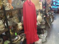 RED HIGH NECK LOW WASTE LINE DRESS