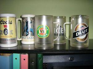 Bocks de bière avec liquides refroidissants