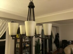 Chandelier and flush mount light