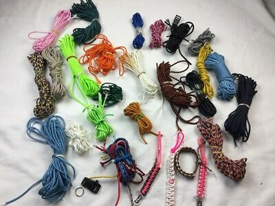 Huge Lot Of 550 Paracord cords and Misc Scraps
