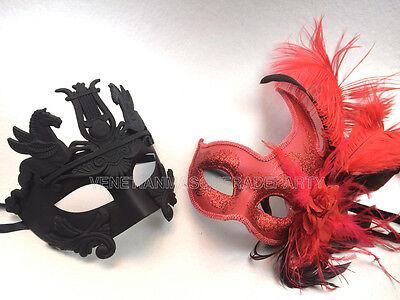 Gladiator Couples Costumes (Couple Masquerade Mask Pair Roman Gladiator Thor Mask Dance Prom Costume)