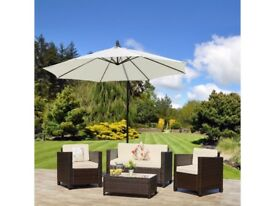 **FREE & FAST UK DELIVERY** Outdoor 4-Piece Rattan Wicker Weave Sofa & Table Set - BRAND NEW